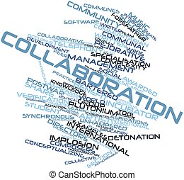 Collaboration - Abstract word cloud for Collaboration with...