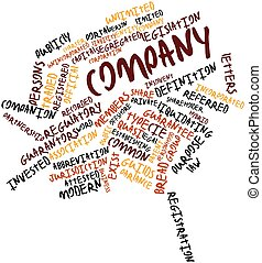 Word cloud for Company - Abstract word cloud for Company...