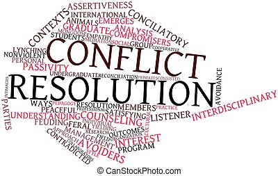Conflict resolution - Abstract word cloud for Conflict...