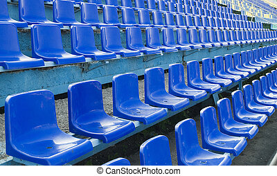 seats - row of an blue seats