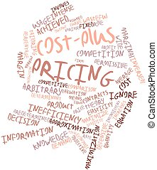 Word cloud for Cost-plus pricing - Abstract word cloud for...