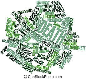 Word cloud for Death - Abstract word cloud for Death with...