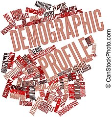 Word cloud for Demographic profile - Abstract word cloud for...
