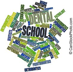 Dental school - Abstract word cloud for Dental school with...
