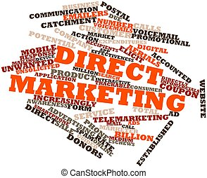 Direct marketing - Abstract word cloud for Direct marketing...
