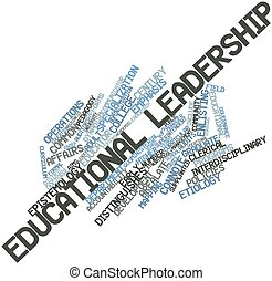 Educational leadership - Abstract word cloud for Educational...