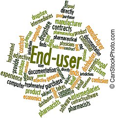 Word cloud for End-user - Abstract word cloud for End-user...
