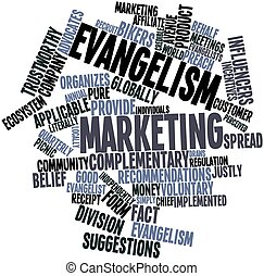 Evangelism marketing - Abstract word cloud for Evangelism...