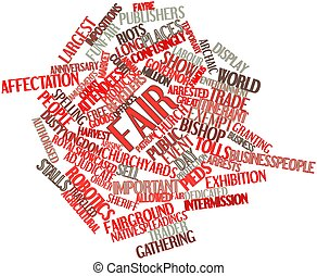 Word cloud for Fair - Abstract word cloud for Fair with...
