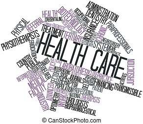 Health care - Abstract word cloud for Health care with...