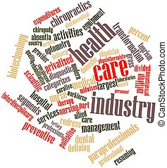 Health care industry - Abstract word cloud for Health care...