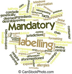 Word cloud for Mandatory labelling - Abstract word cloud for...