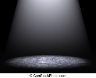 Cement floor background with spotlight