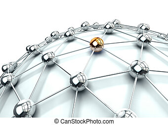 3d image of networking and internet concept isolated in...