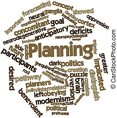Planning - Abstract word cloud for Planning with related...