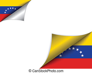 Venezuela Country Flag Turning Page - Vector - Venezuela...