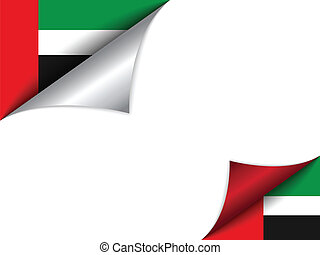 Emirates Country Flag Turning Page - Vector - Emirates...