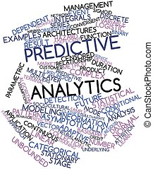 Word cloud for Predictive analytics - Abstract word cloud...