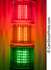 column of signal lights
