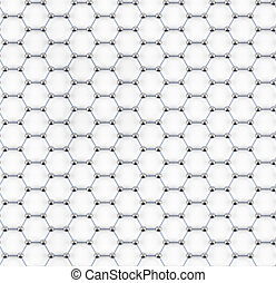 Tiled graphene sheet model of steel atoms