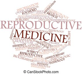Reproductive medicine - Abstract word cloud for Reproductive...