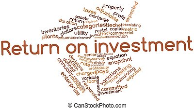 Return on investment - Abstract word cloud for Return on...