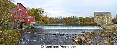 Clinton Mills Panorama - A panoramic view of the historic...