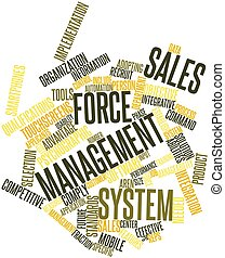 Word cloud for Sales force management system - Abstract word...