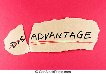 Disadvantage to advantage - amending disadvantage word and...