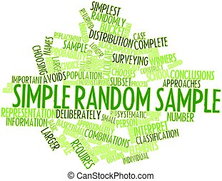 Simple random sample - Abstract word cloud for Simple random...