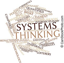 Systems thinking - Abstract word cloud for Systems thinking...