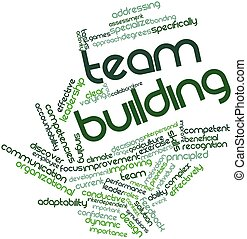 Team building - Abstract word cloud for Team building with...