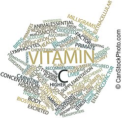 Vitamin C - Abstract word cloud for Vitamin C with related...