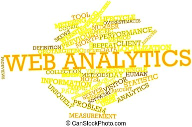 Word cloud for Web analytics - Abstract word cloud for Web...