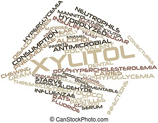 Xylitol - Abstract word cloud for Xylitol with related tags...