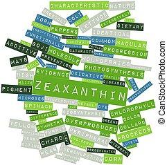 palabra, nube, Zeaxanthin