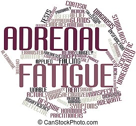 Adrenal fatigue - Abstract word cloud for Adrenal fatigue...