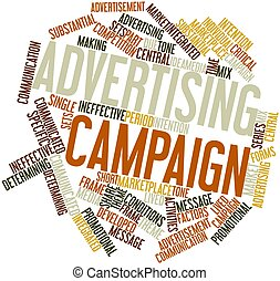 Advertising campaign - Abstract word cloud for Advertising...