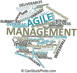 Word cloud for Agile management - Abstract word cloud for...