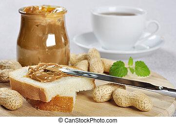 peanut butter sandwhich - Fresh homemade peanut butter...