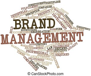 Word cloud for Brand management - Abstract word cloud for...