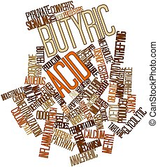 Butyric acid - Abstract word cloud for Butyric acid with...