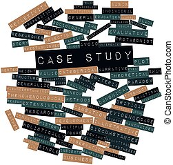 Case study - Abstract word cloud for Case study with related...