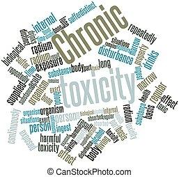 palabra, nube, crónico, toxicidad