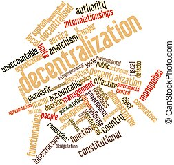 Word cloud for Decentralization - Abstract word cloud for...