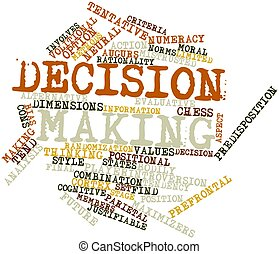 Decision making - Abstract word cloud for Decision making...