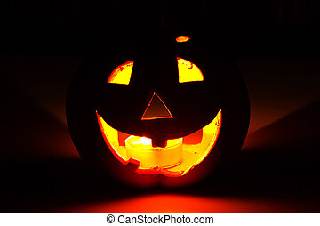 halloween pumpkin - Scary face of halloween pumpkin. Vector