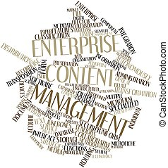 Enterprise content management - Abstract word cloud for...