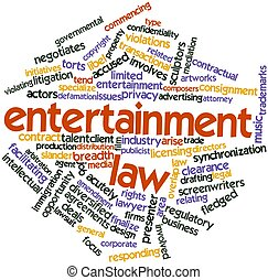 Entertainment law - Abstract word cloud for Entertainment...