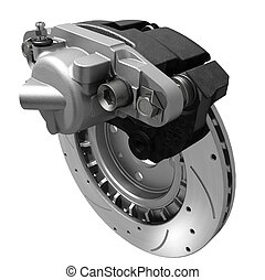 Brake System - three dimensional visualization of brake...